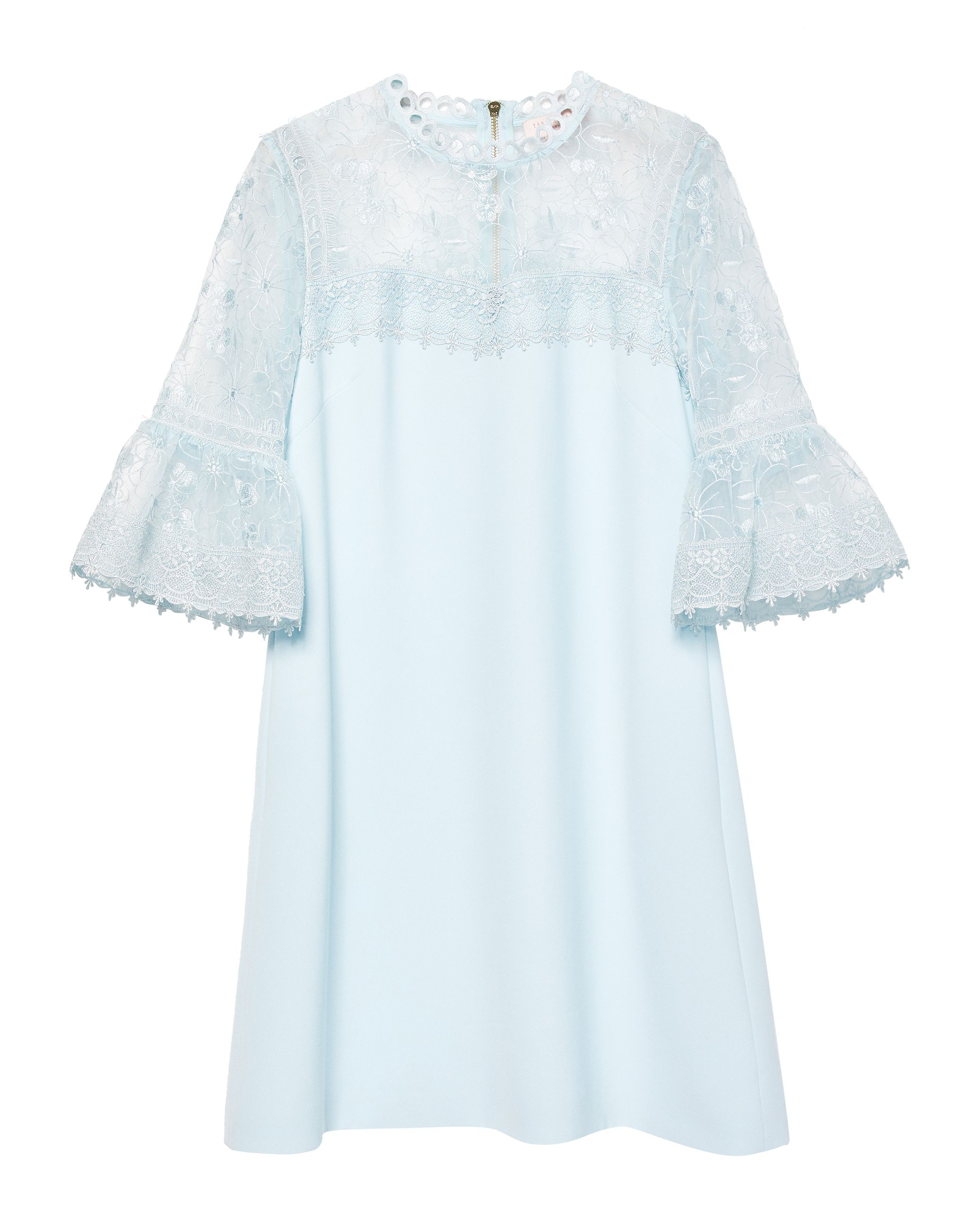 Ted Baker Raechal Lace Peplum Dress, Blue
