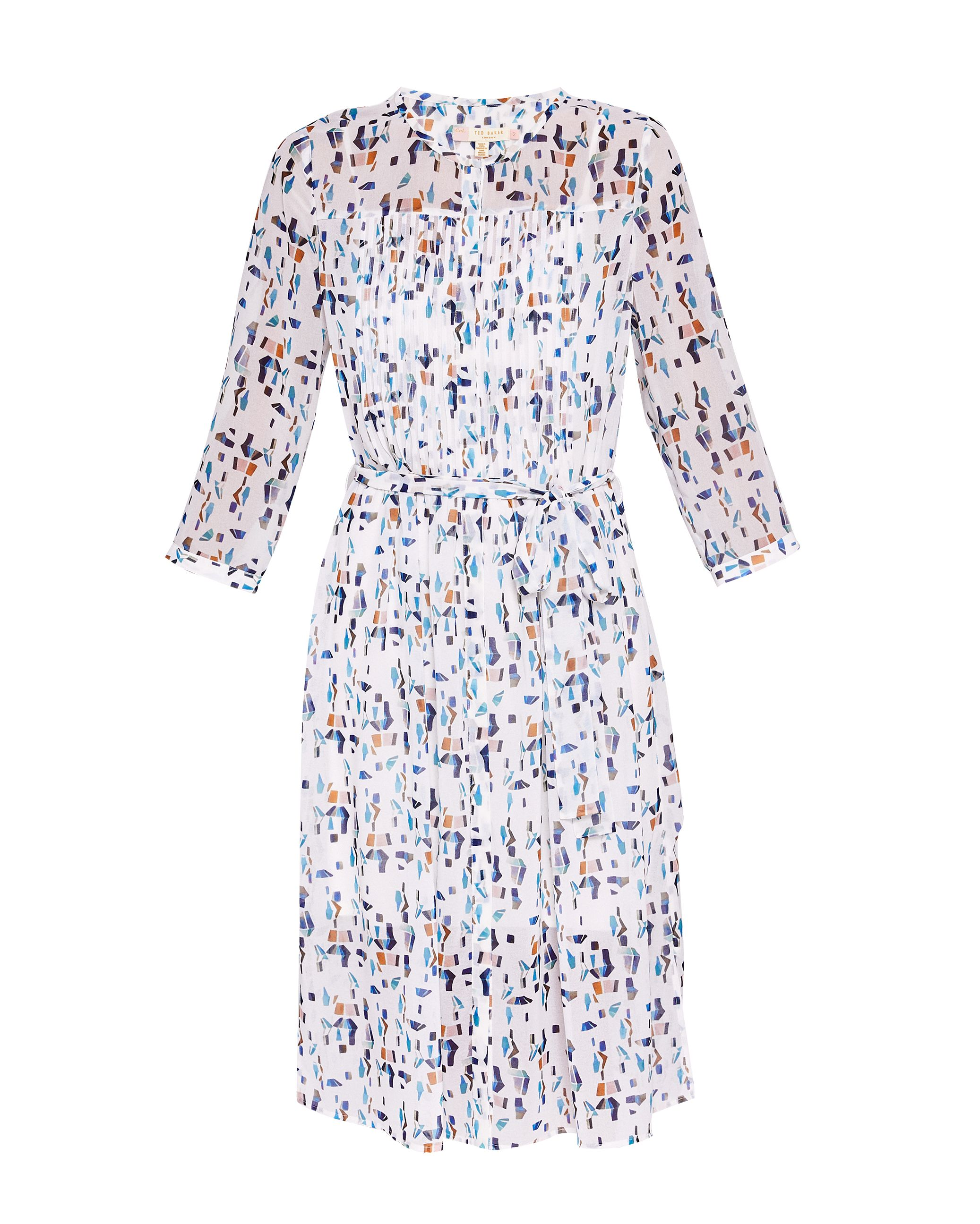 Ted Baker Teca Printed Shirt Dress, White