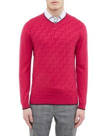 Ted Baker Armstro Textured V-Neck Jumper