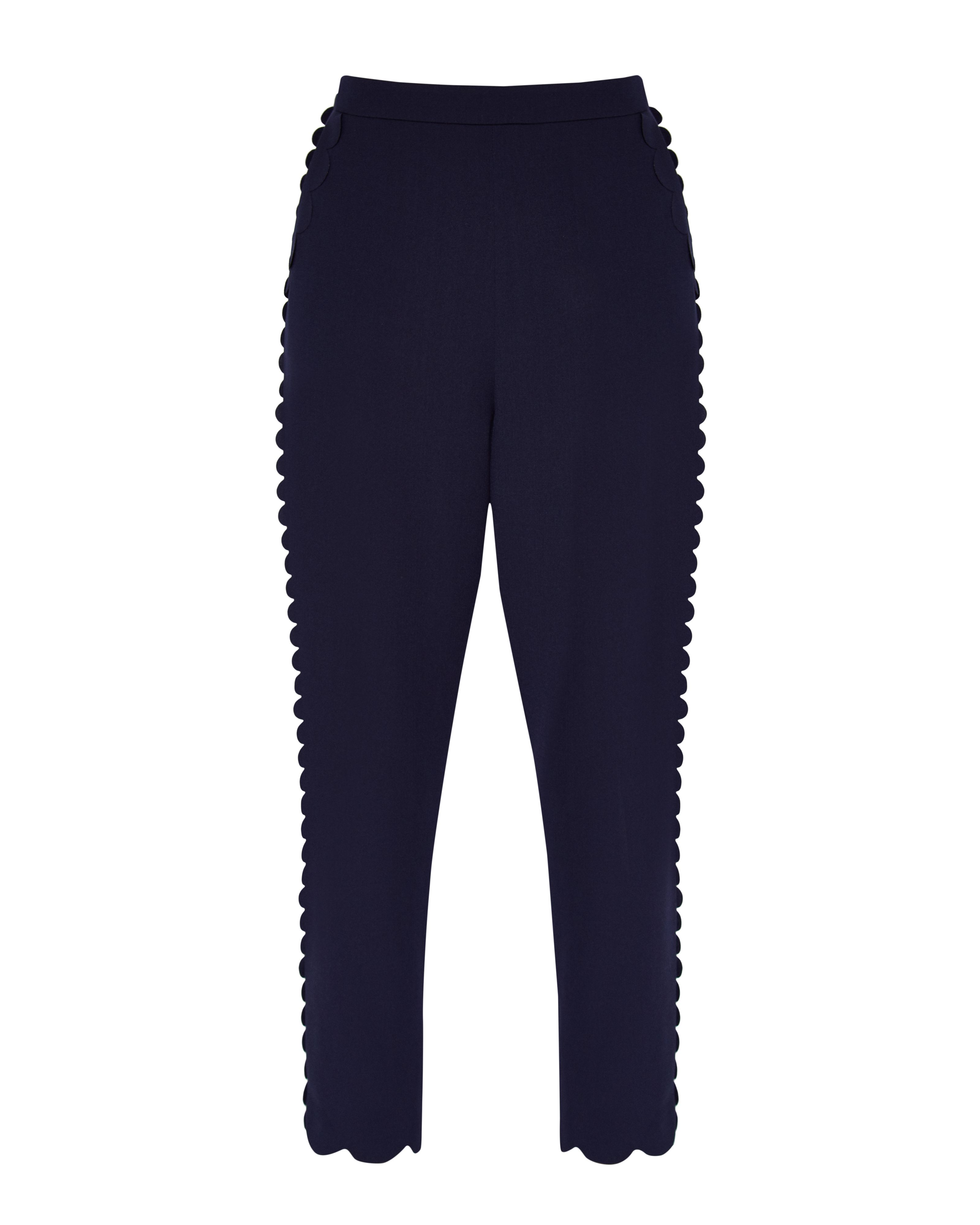 Ted Baker Dyanni Scallop Trim Jogger Trousers, Blue