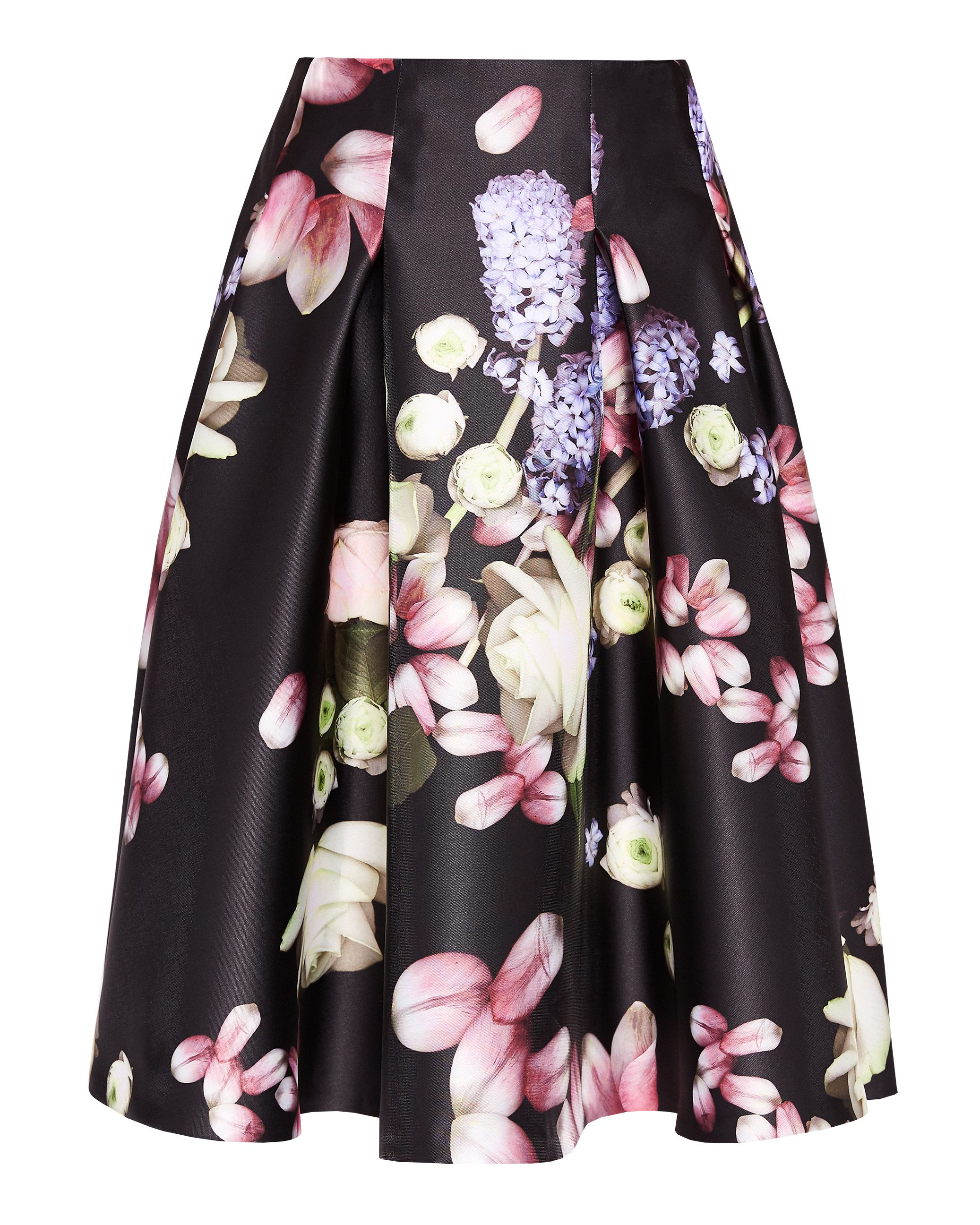 Ted Baker Angi Kensington Floral full skirt, Black