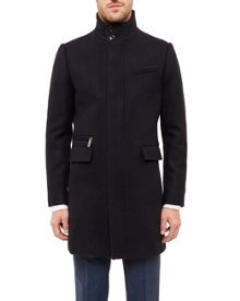 Ted Baker Uplog  Funnel neck overcoat
