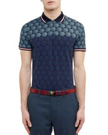 Ted Baker Birdy Ombré Cotton-Blend Polo Shirt