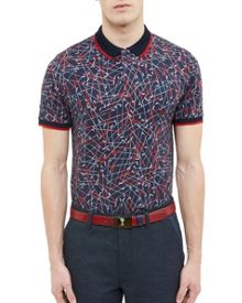 Ted Baker Slice Golf Club Print Polo Shirt