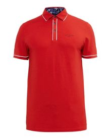 Ted Baker Playgo Striped Trim Polo Shirt
