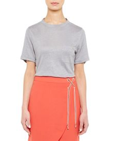 Ted Baker Harlaa Square Cut Linen T-Shirt