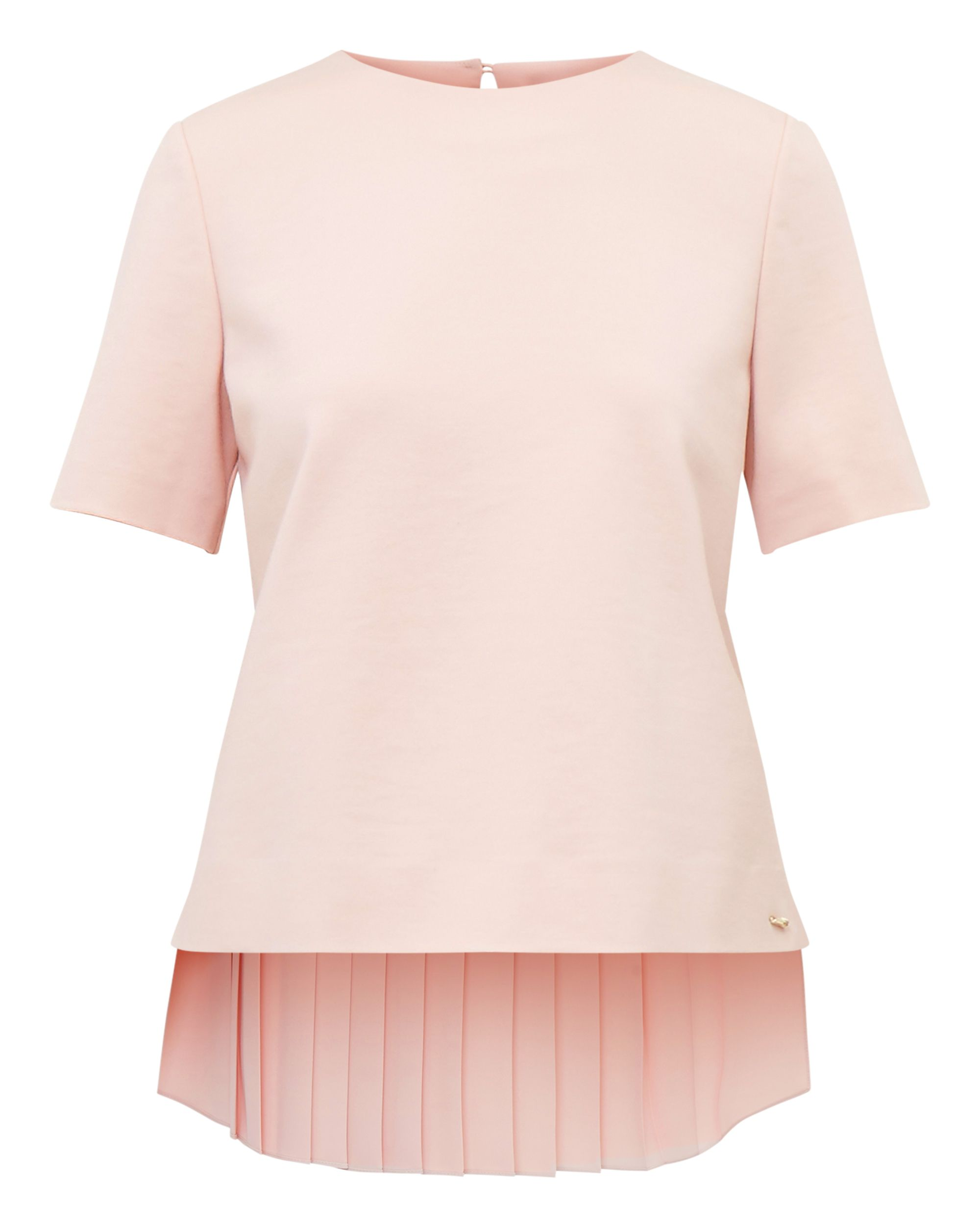 Ted Baker Naevaa Pleated Back Top, Pink