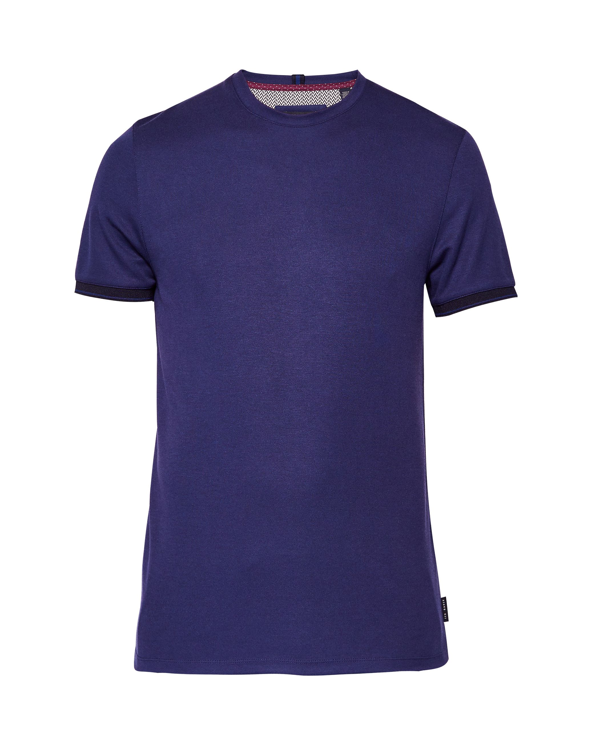 Men's Ted Baker Nanmoon Flat Knit Detail T-Shirt, Blue