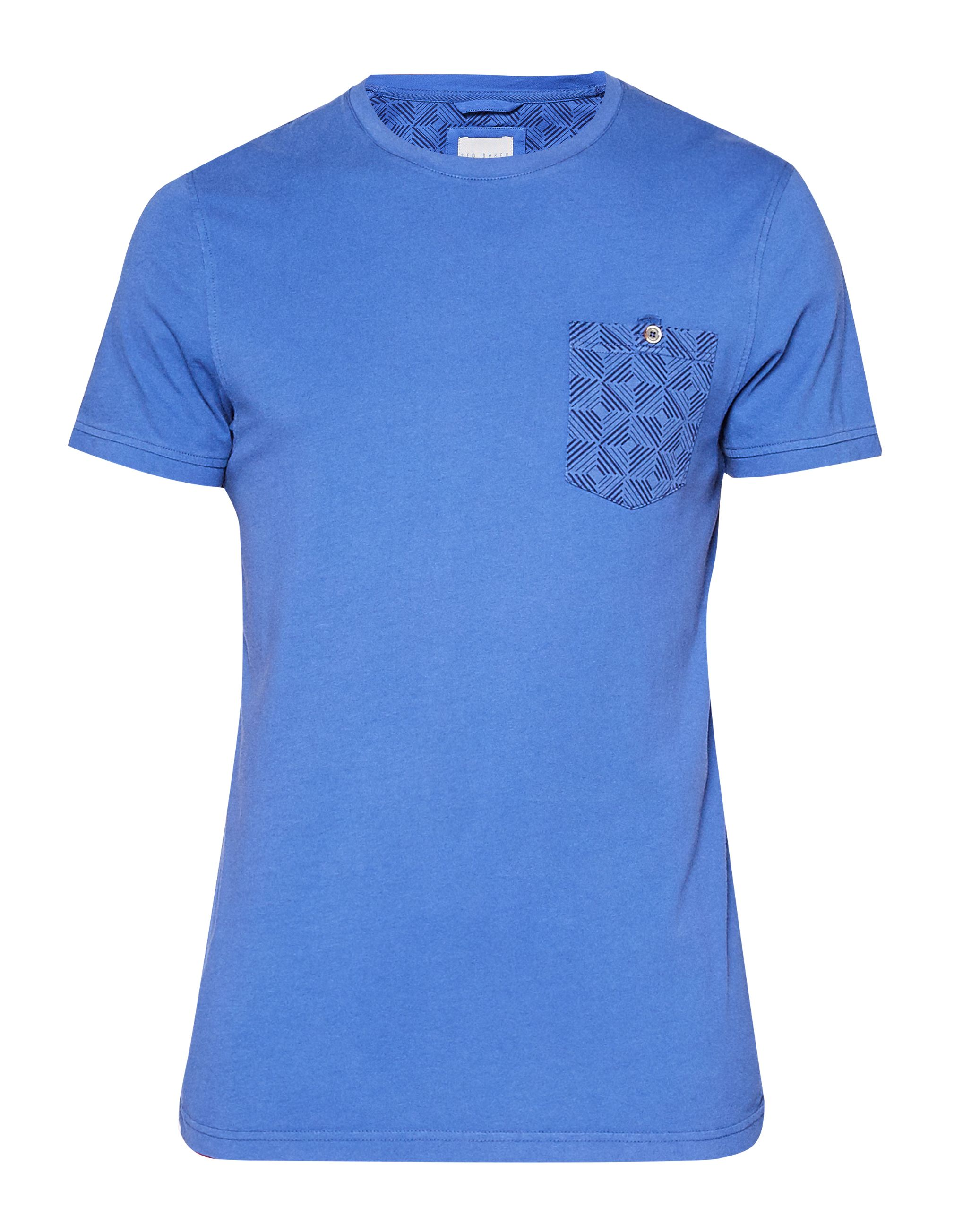 Men's Ted Baker Bothy Geo Print Pocket Cotton T-Shirt, Blue