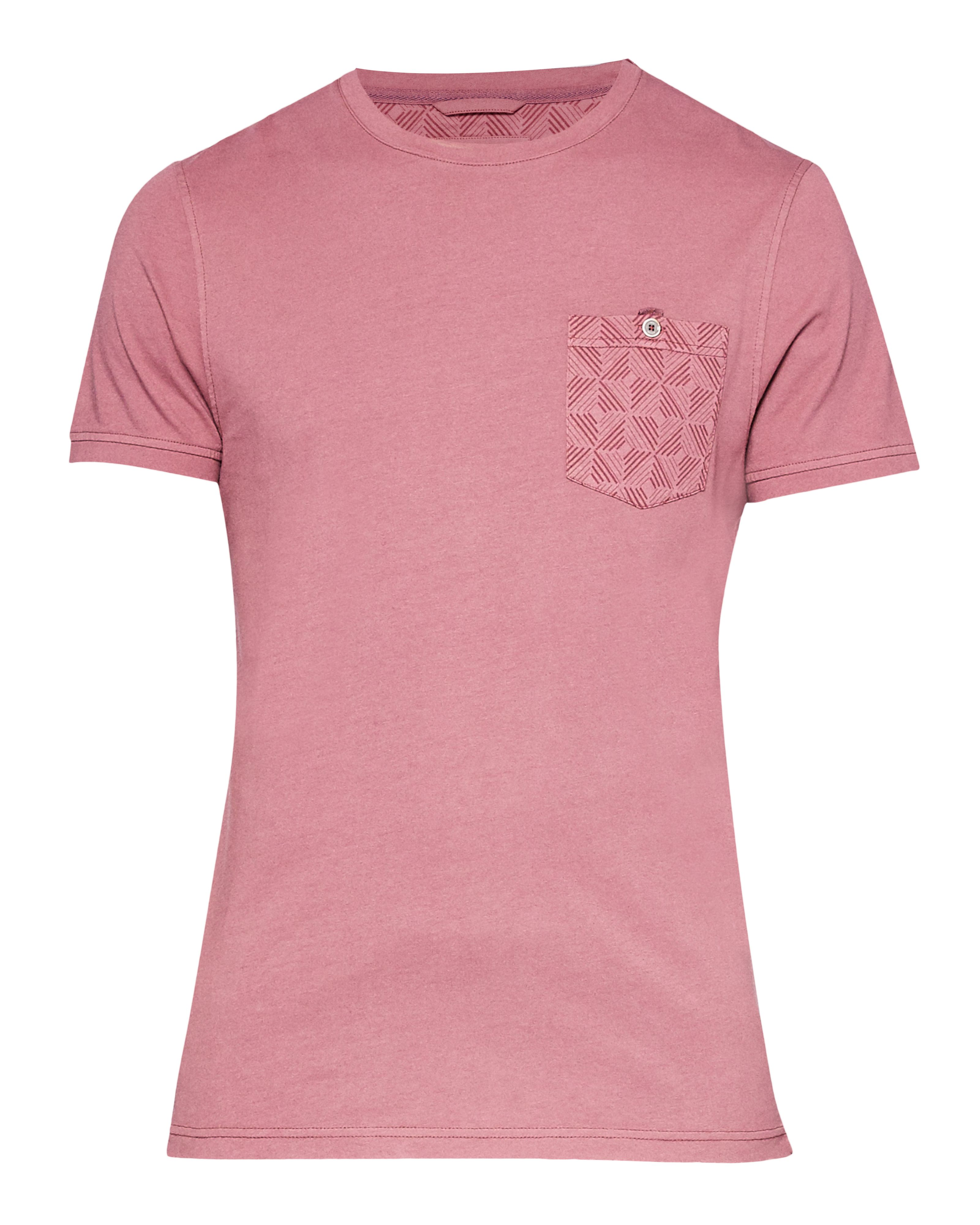 Men's Ted Baker Bothy Geo Print Pocket Cotton T-Shirt, Candy Pink