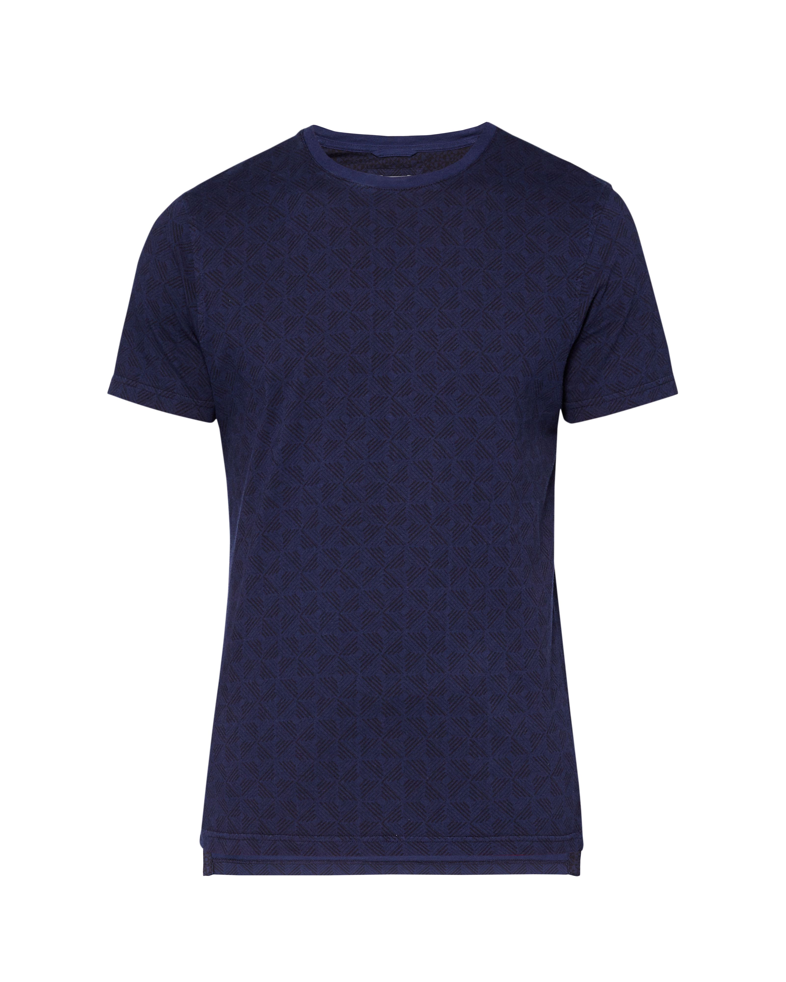 Men's Ted Baker Craay Geo Print Cotton T-Shirt, Blue