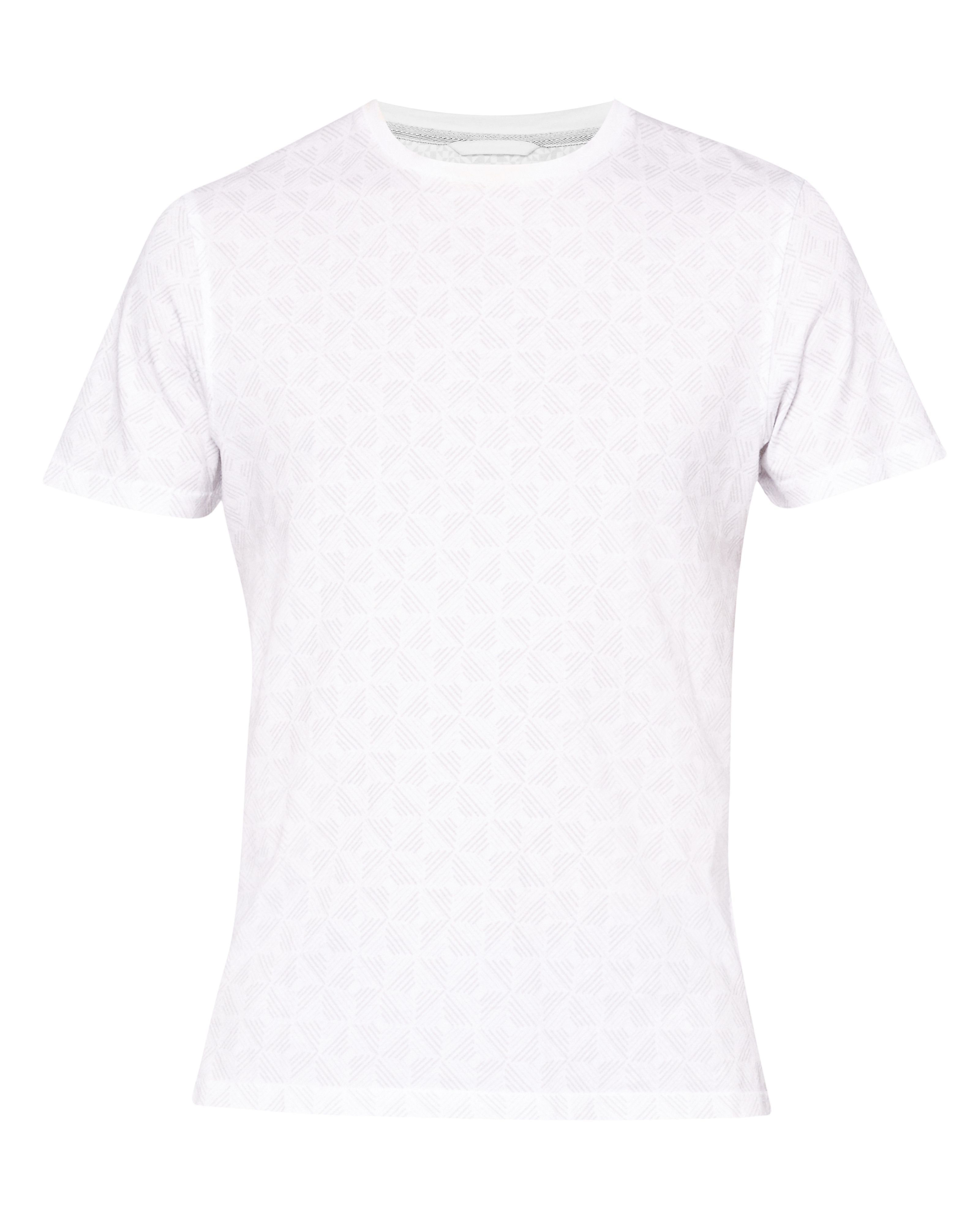 Men's Ted Baker Craay Geo Print Cotton T-Shirt, White