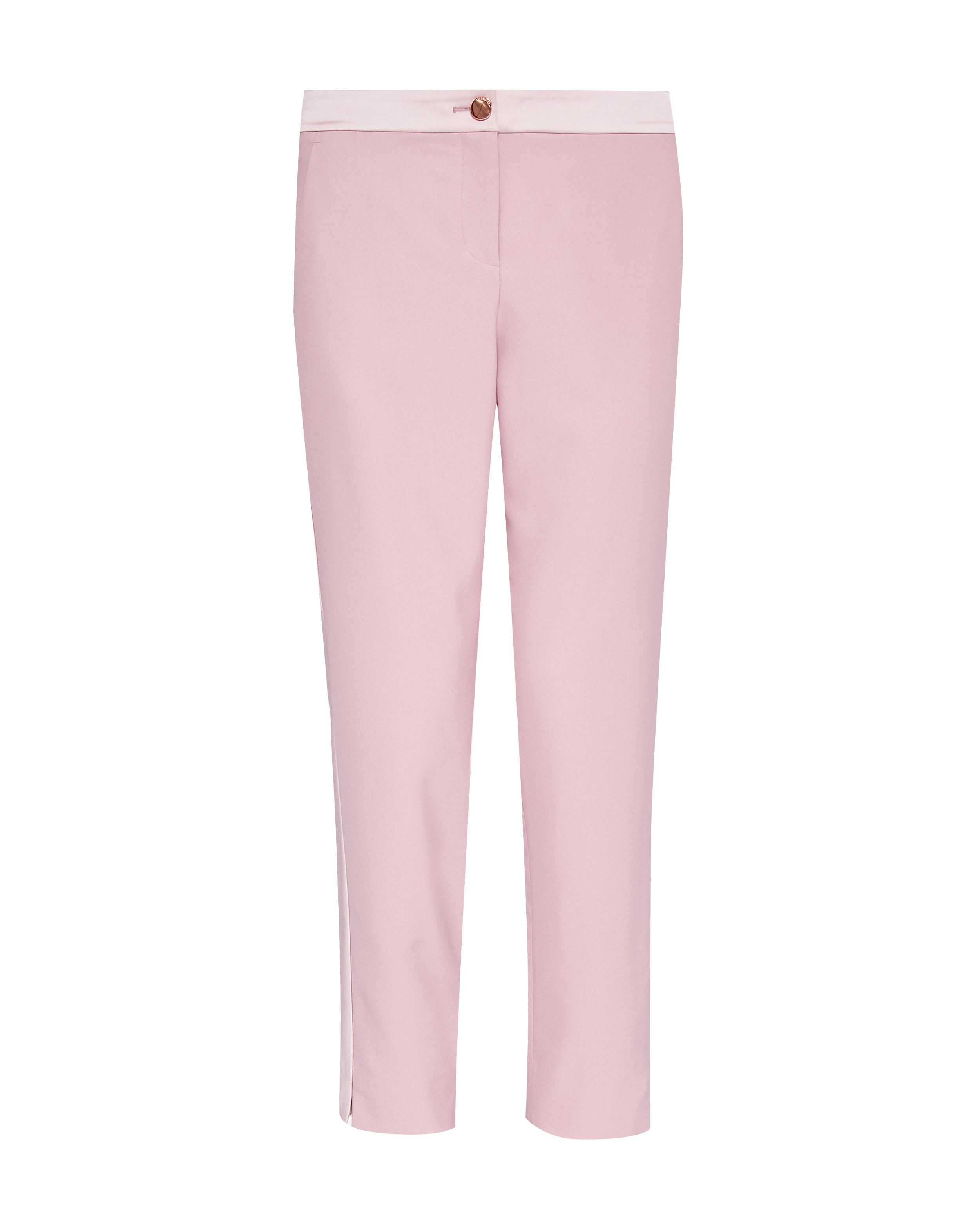 Ted Baker Fionna Contrast Panel Tapered Trouser, Pink