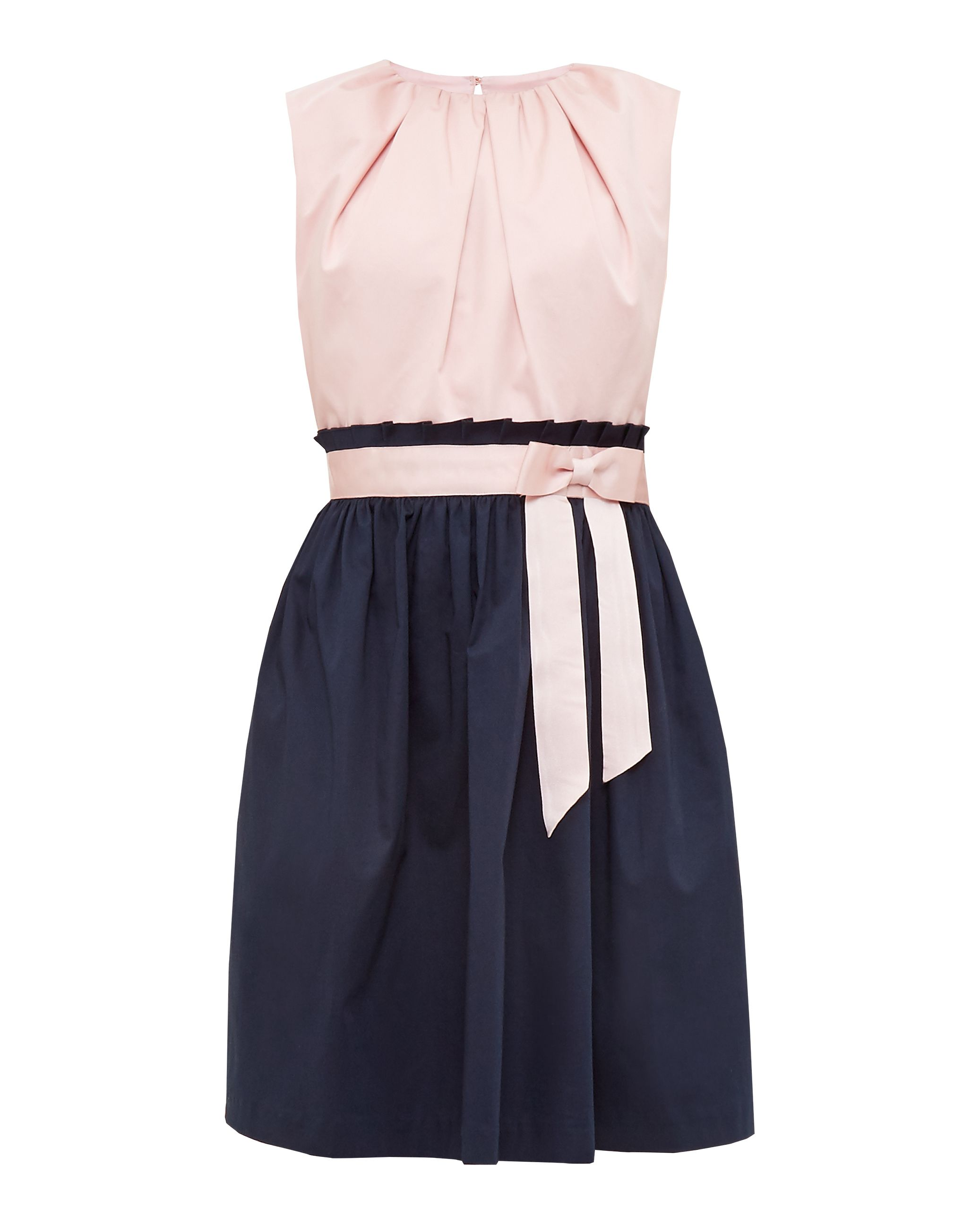 Ted Baker Alyy Frilled Waist Tie Cotton-Blend Dress, Pink