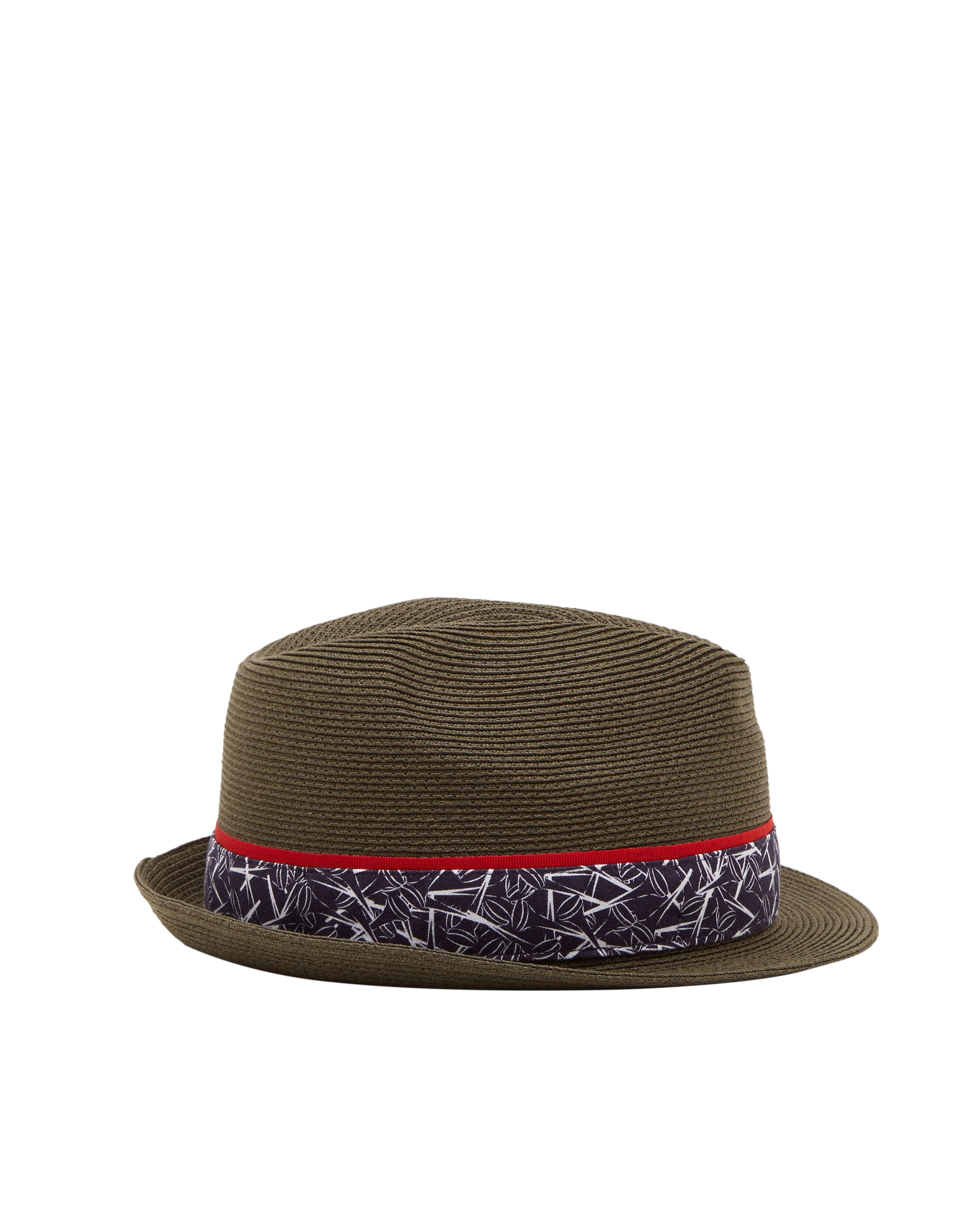Ted Baker Happyg Printed Trilby Hat Green