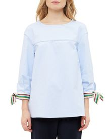 Ted Baker Lillou Bow tie cotton top