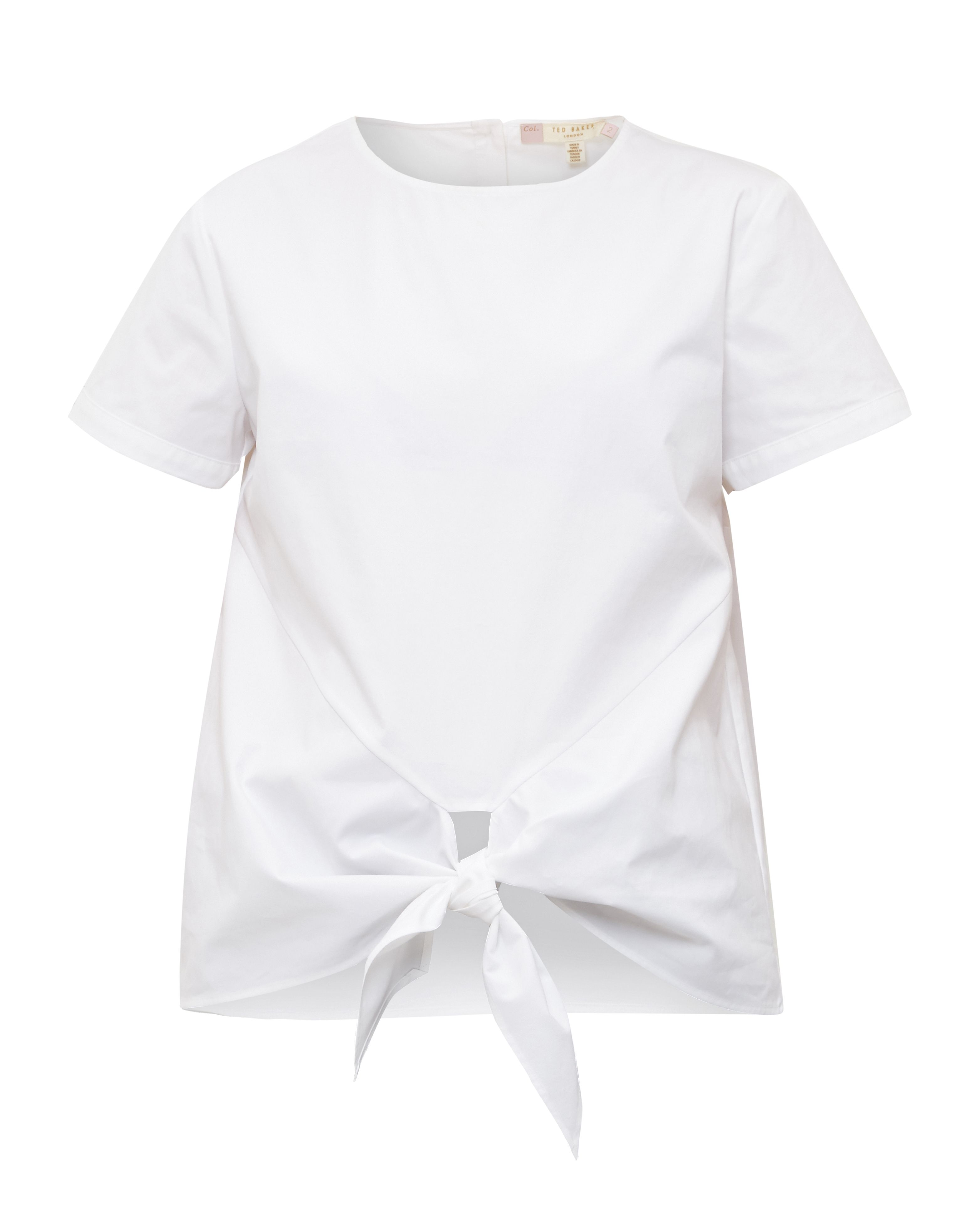 Ted Baker Suki Knot front cotton top, White