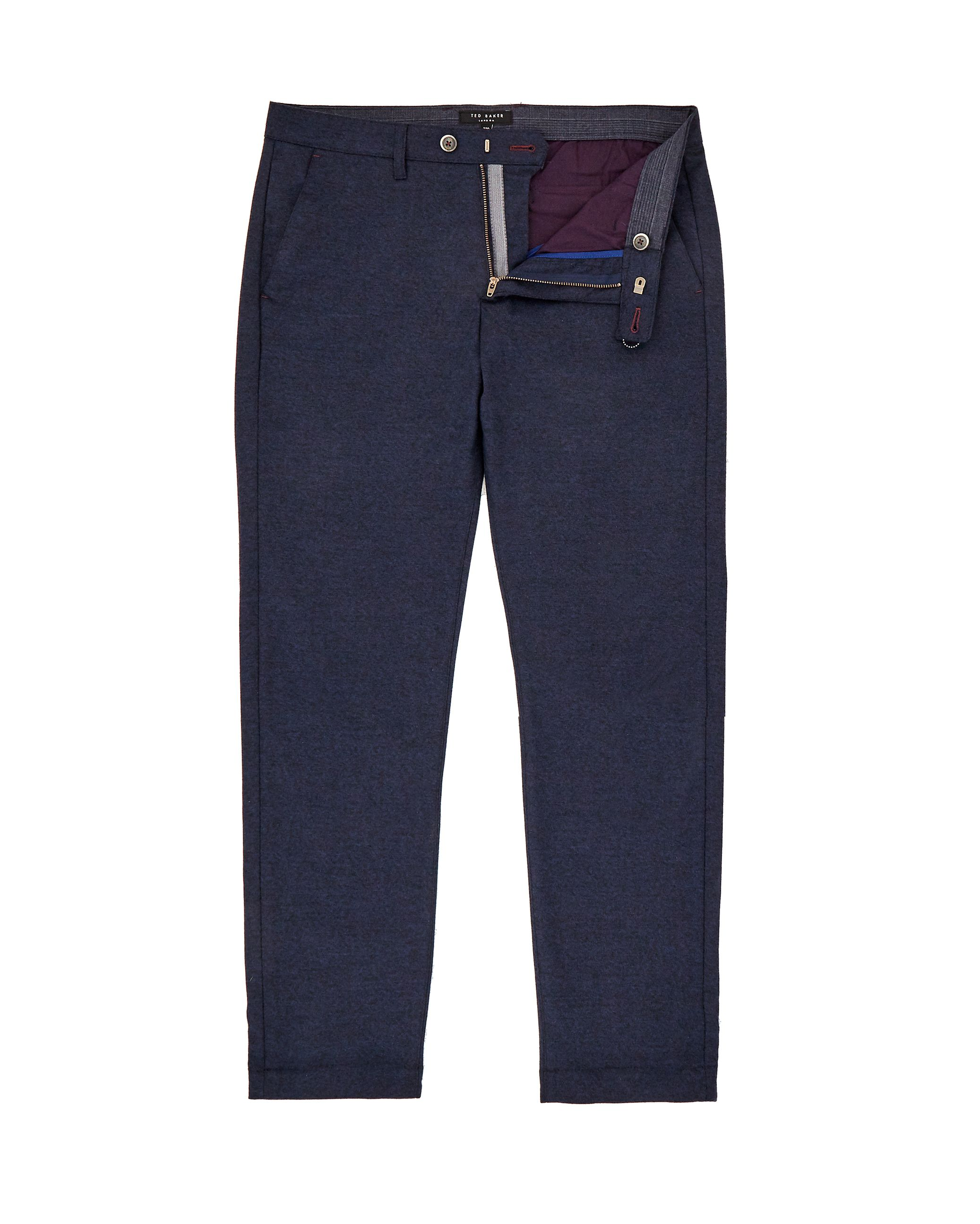 Mens Ted Baker Cropps SlimFit Cropped Trousers Navy