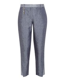 Ted Baker Quintai Side panel linen-blend trousers