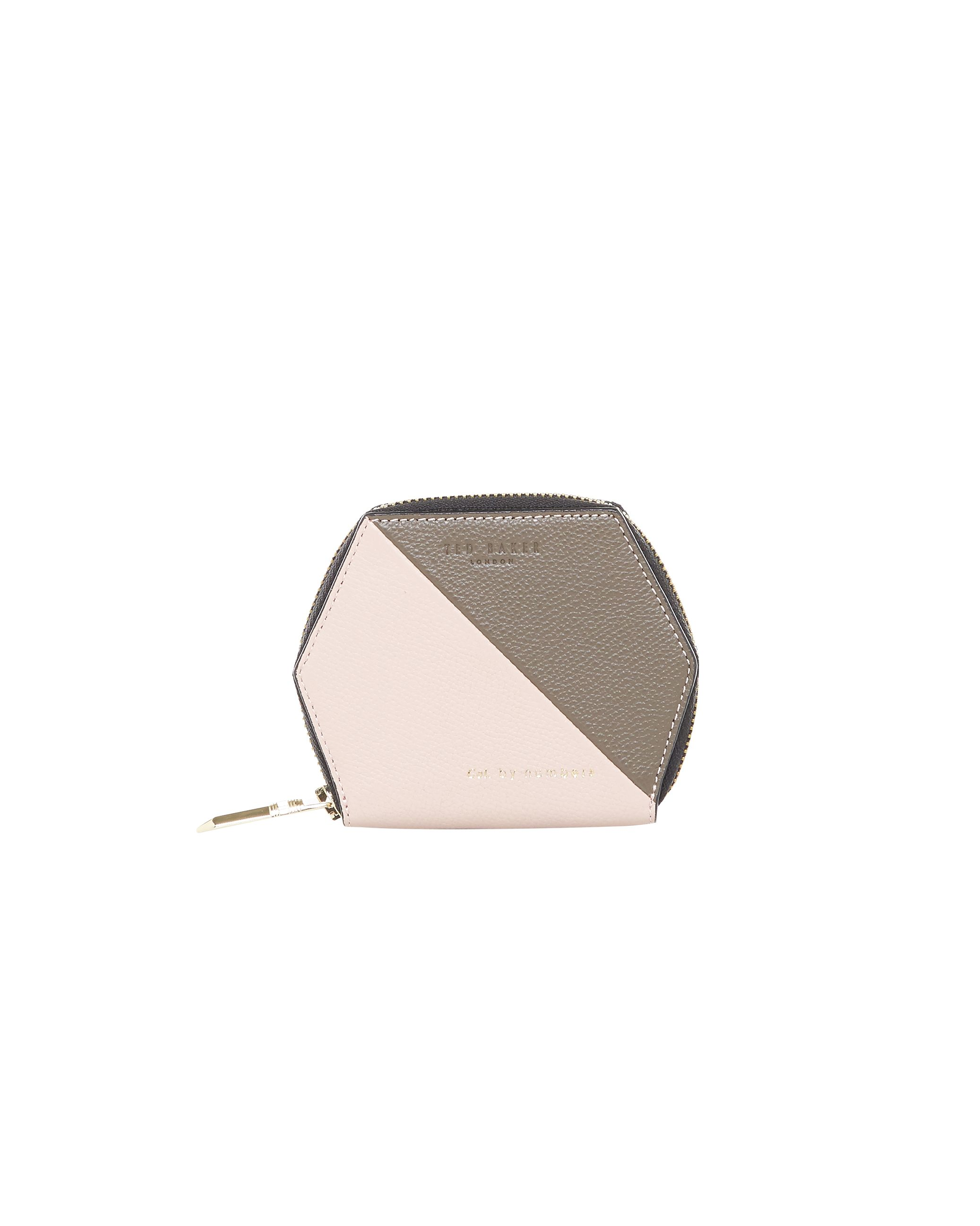Ted Baker Peche ColourBlock Leather Purse Blush