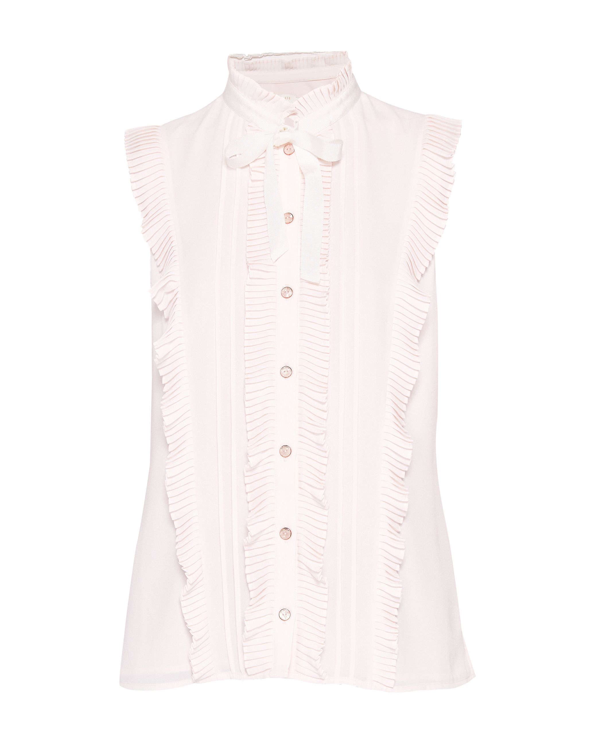 Ted Baker Serata Ruffle Tie Neck Blouse, Pink