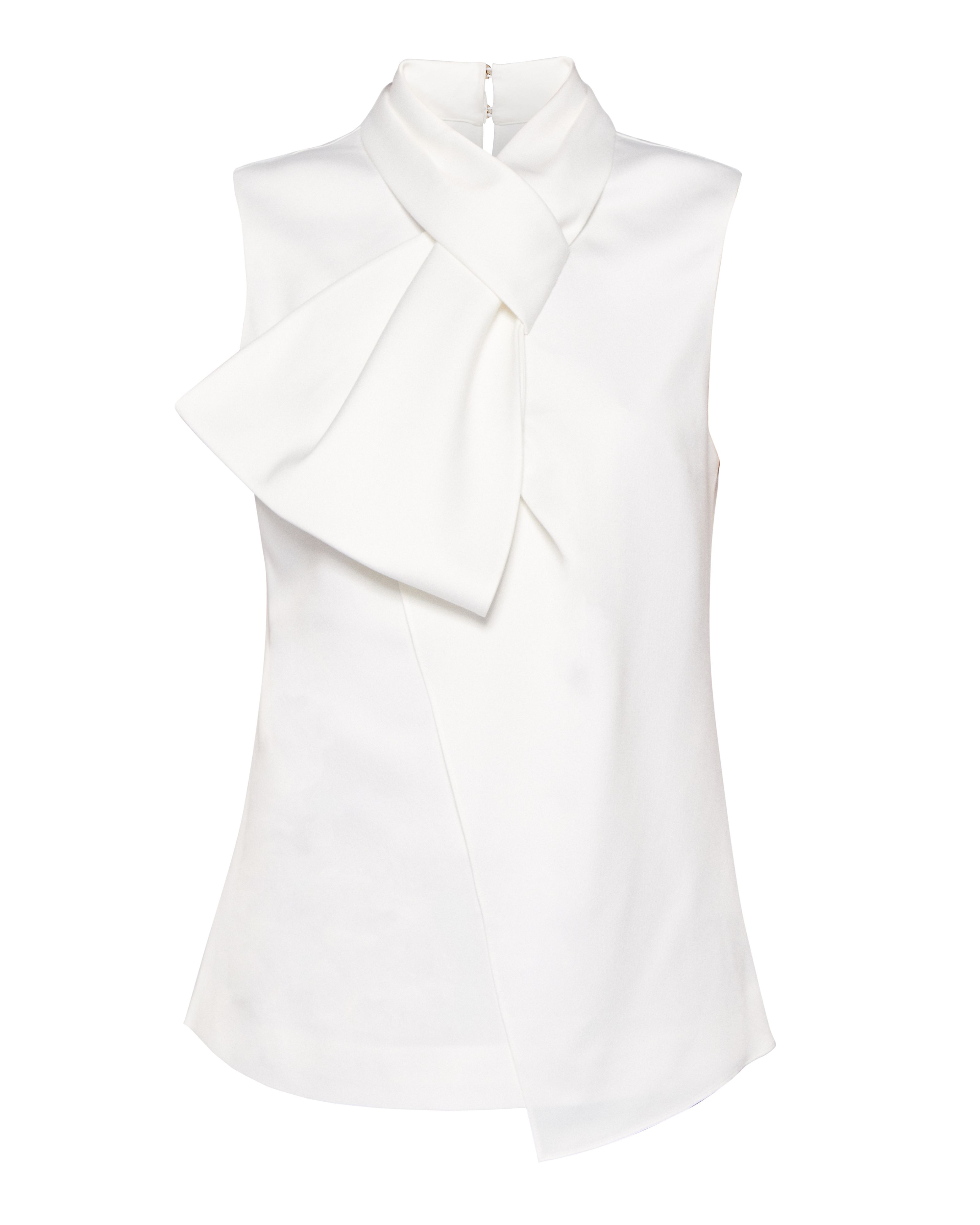 Ted Baker Kristaa Twisted Bow Neck Top, White