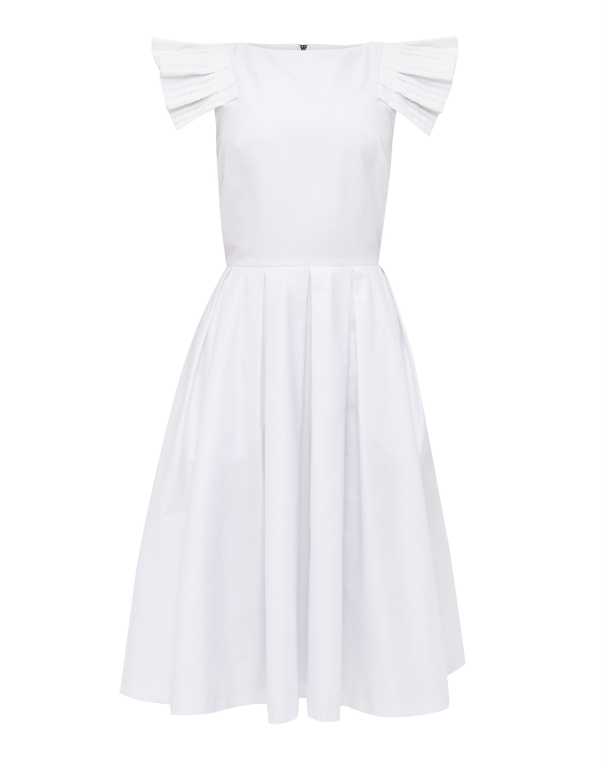 Ted Baker Husher Layered Frill Shift Dress, White