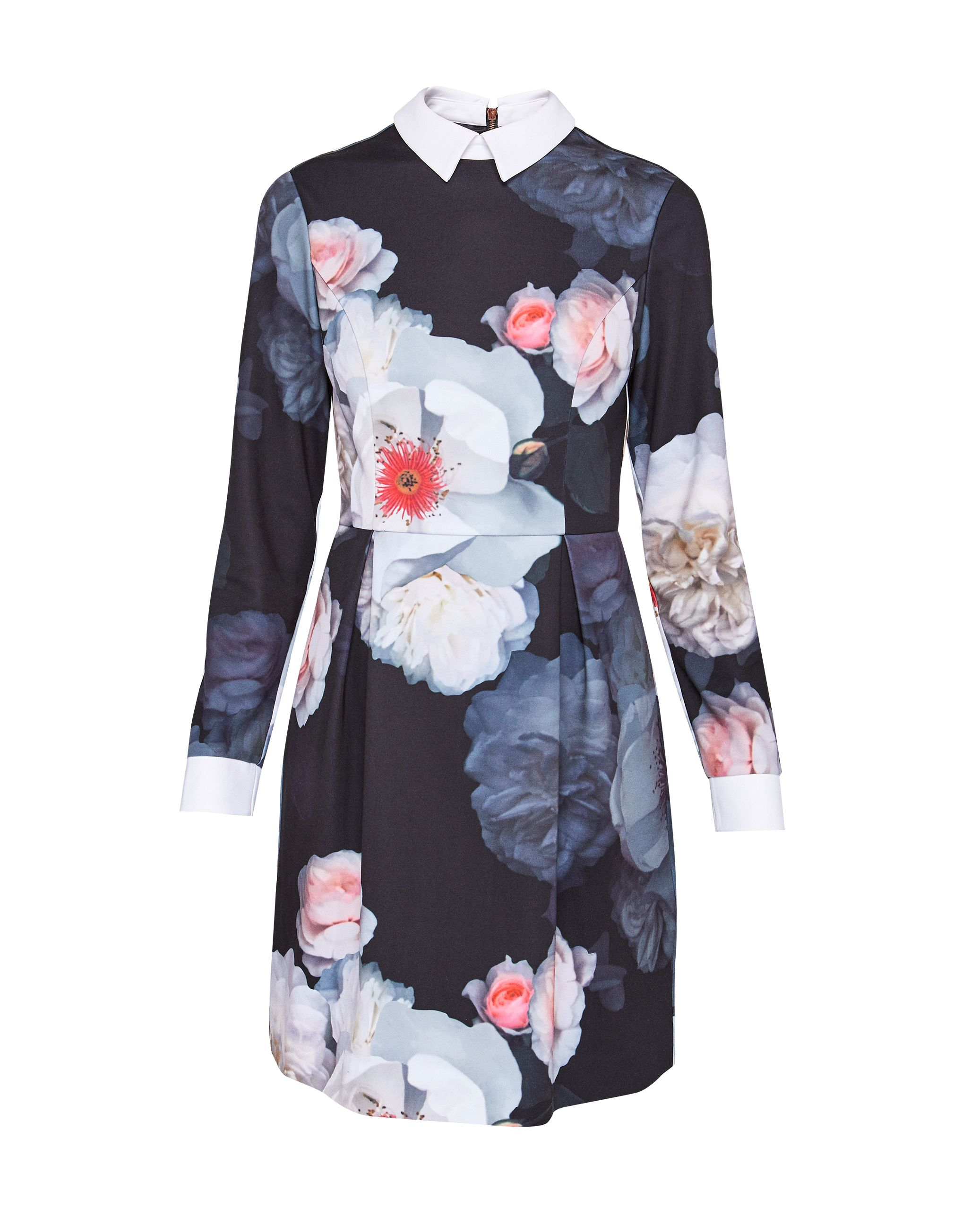 Ted Baker Kaleesa Chelsea Flower Collared Dress, Black