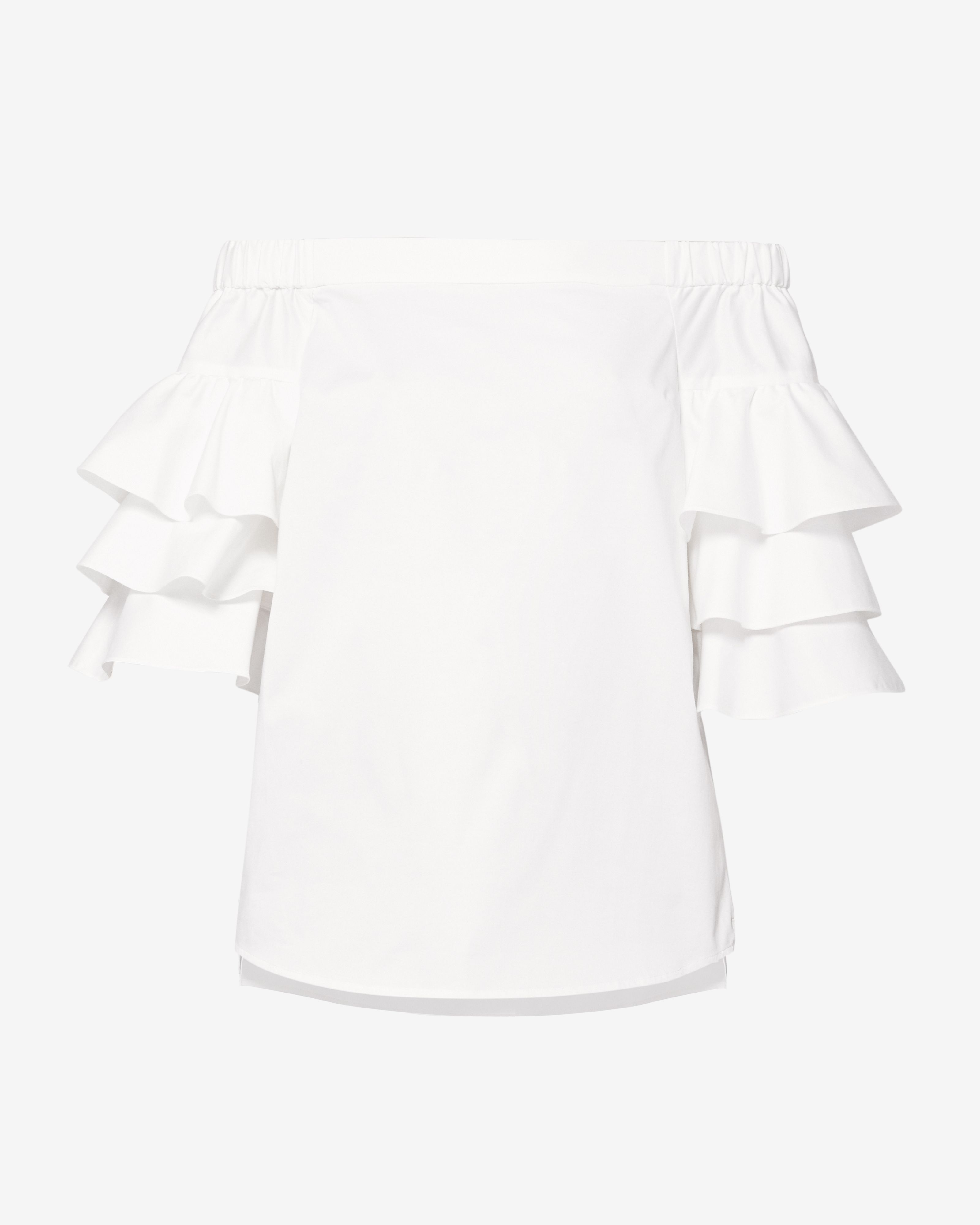 Ted Baker Inbo Layered Frill Sleeve Top, White