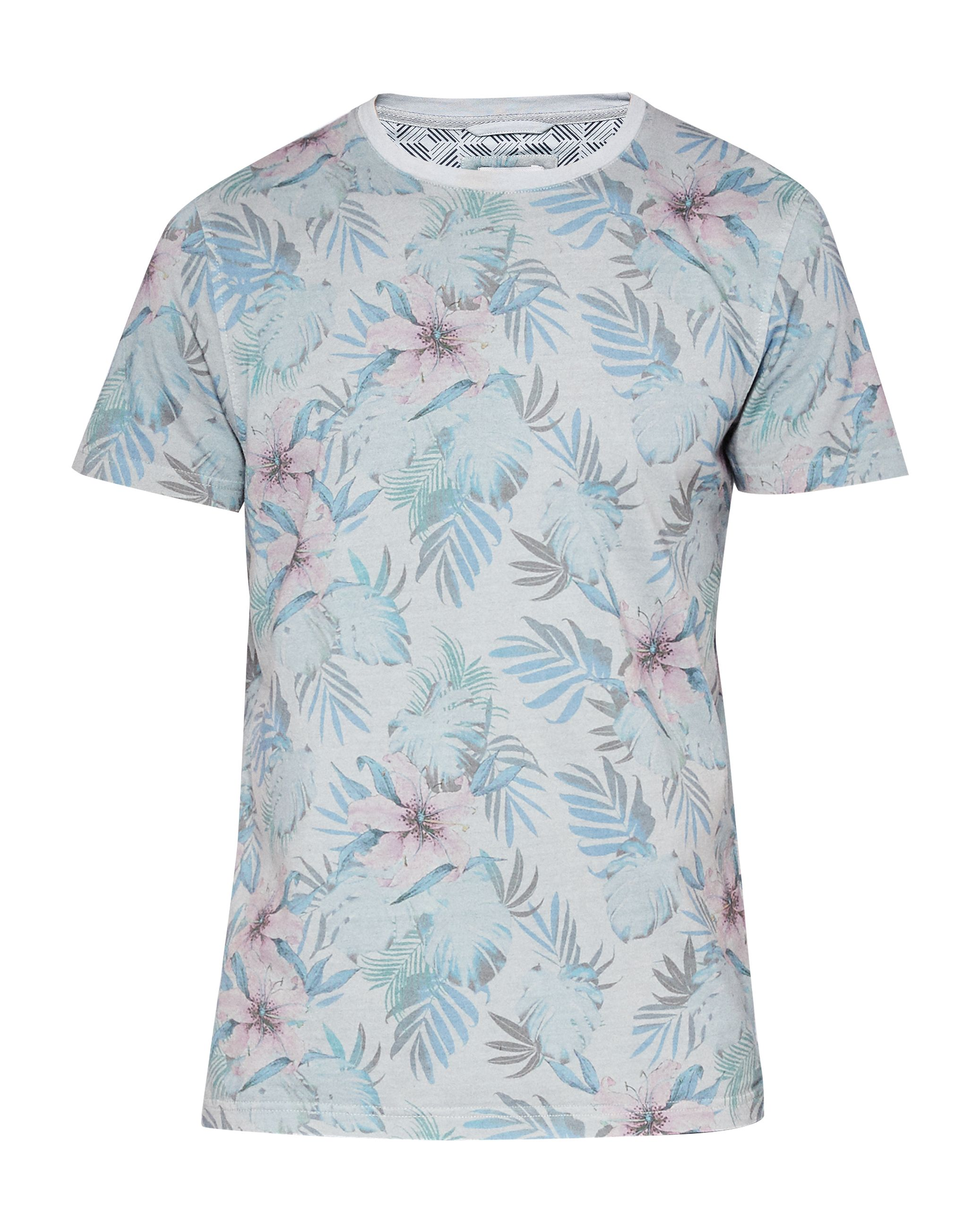 Men's Ted Baker Bartney Floral Print Cotton T-Shirt, Green