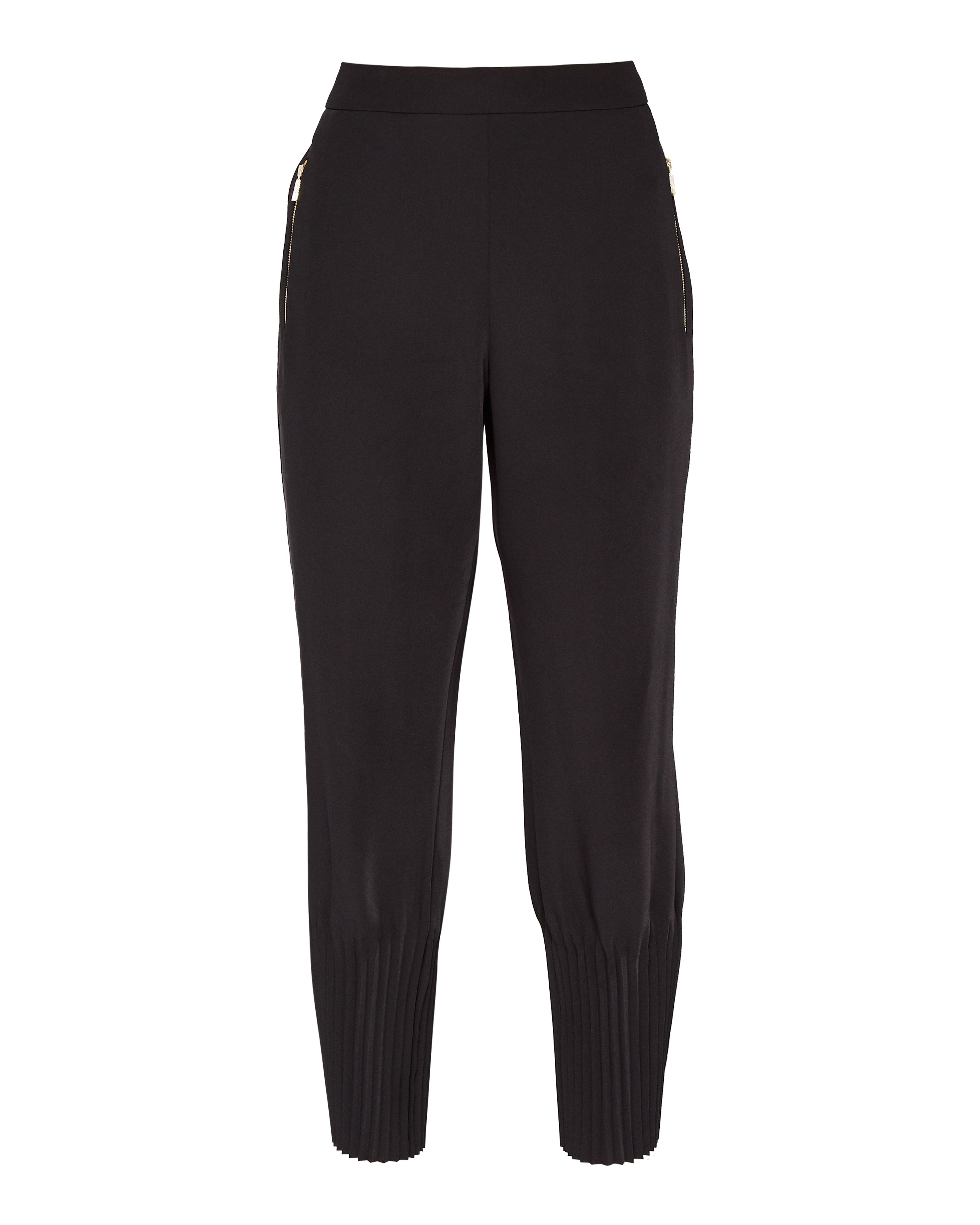 Ted Baker Aliso Pleated Hem Jogger Trousers, Black