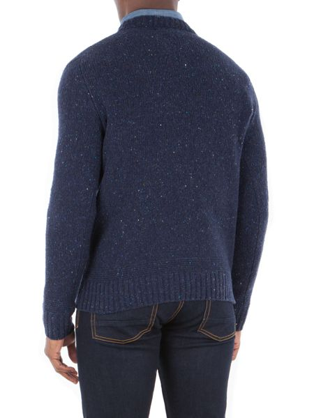 Gibson Chunky Crew Neck Donegal Sweater
