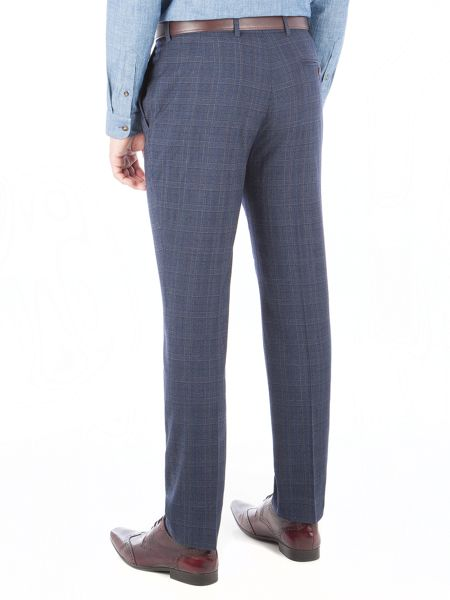 Gibson Blue Check Trouser