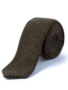 Gibson Brown Puppytooth Check Tie