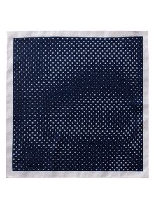 Gibson Navy Dot Silk Hanky