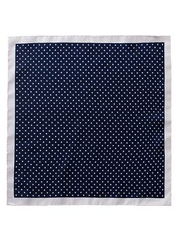 Navy Dot Silk Hanky