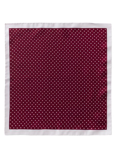 Gibson Berry Dot Silk Hanky