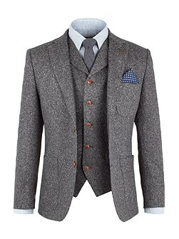 Grey Fleck Donegal Jacket