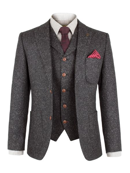 Gibson Charcoal Fleck Donegal Jacket