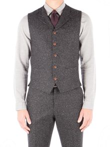 Gibson Charcoal Donegal Fleck Waistcoat