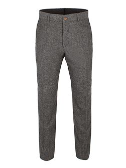 Grey Herringbone Trouser
