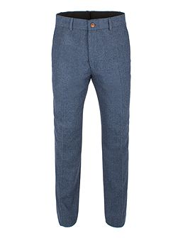 Blue Herringbone Trouser