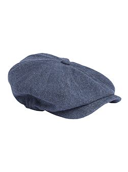 Blue Herringbone Hat