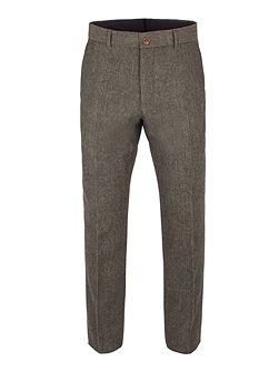 Green Herringbone Trouser