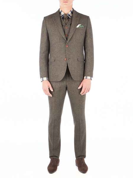 Gibson Green Herringbone Trouser