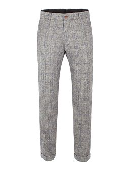 Silver Grey Check Trouser