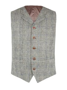 Gibson Silver Grey Check Vest