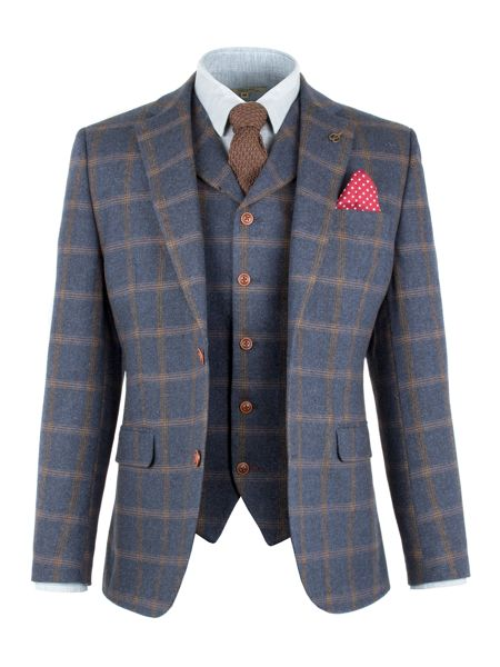 Gibson Blue And Tan Check Jacket