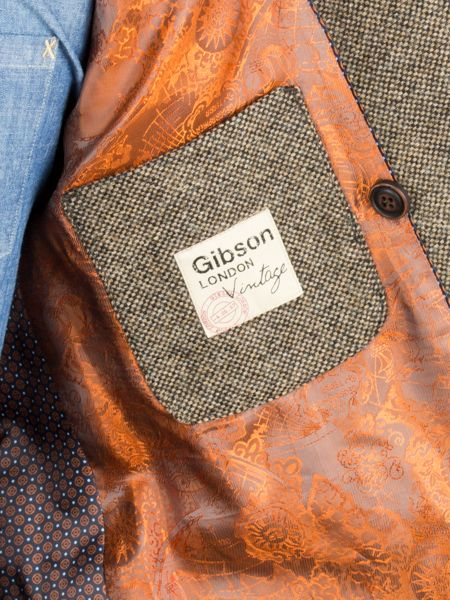 Gibson Taupe Double Breasted Jacket