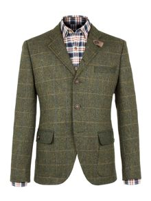 Gibson Green Herringbone Check Jacket